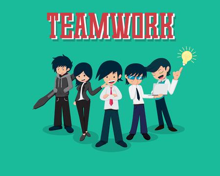 Salary Man 01 Teamwork, good team good business