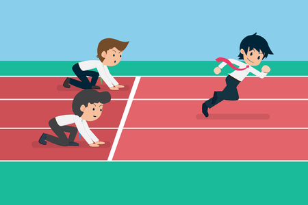 Salary Man 01 Start Before Others.Business Competition is like Running. Who Started before it was right to reach the Finish line First.