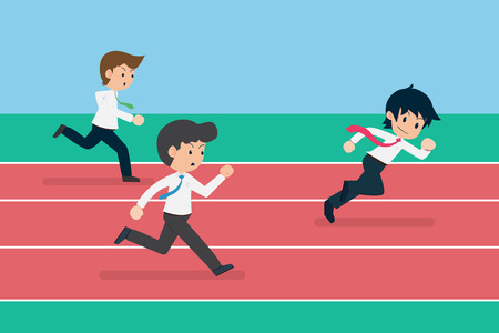 Business Competition.Business competition is like Running.