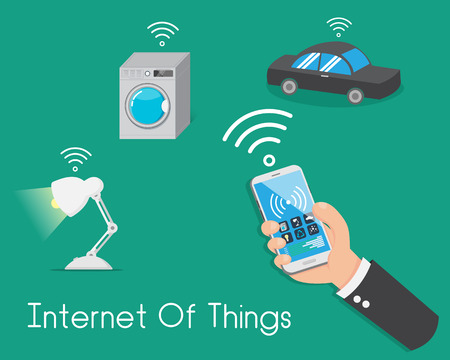 Internet of Things. Control everything from your smartphone. Light , Car , Everything. Иллюстрация