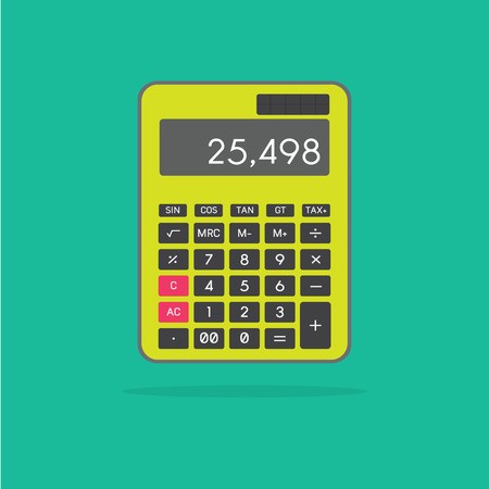 Green Calculator , flat green calculator icon,