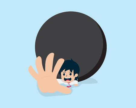 Salary Man Overridden by Giant Black Ball.When you do not have a business plan,you will have big problem , issue, trouble on your way.