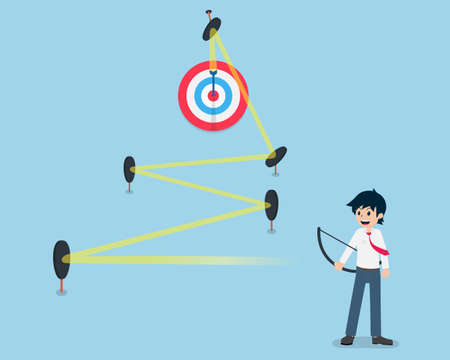 Salary man shoots through difficult obstacles to the center of the target precisely. If there is a good plan, there are no obstacles, problems or obstacles.
