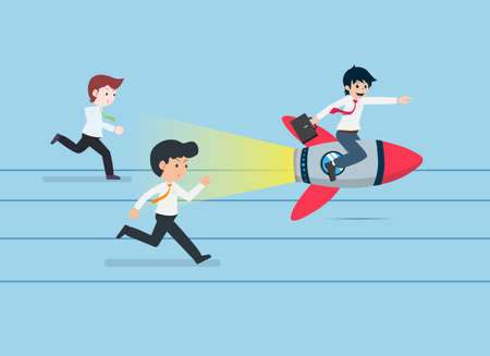 Salary Man Sit on a rocket and go faster than everyone. Prepare a good business plan We will have a competitive advantage.