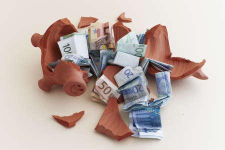 piggy bank broken photo