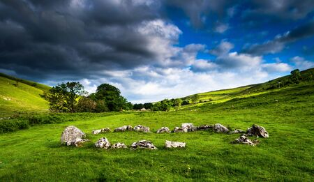 Yockenthwaite stone circle. Yorkshire Dales National Park
