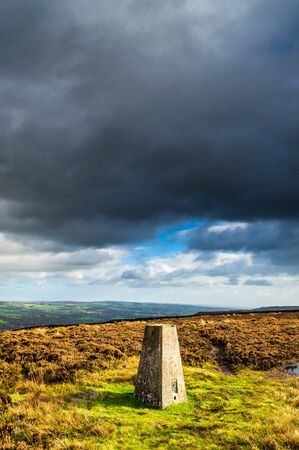 Trig Point. Ilkley moor. Yorkshire