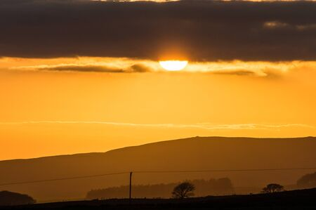 A beautiful sunset over the Yorkshire moors