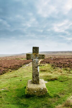 Cowpers Cross. Ilkley moor. England Фото со стока