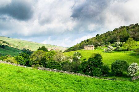A farmhouse. Hubberholme. Yorkshire Dales National Park Banco de Imagens