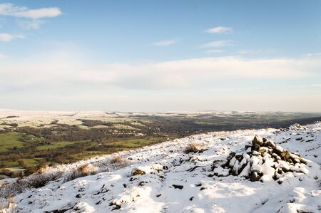 Snow over Ilkley moor. Yorkshire. England