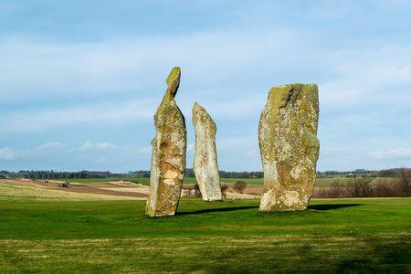 Prehistoric standing stones. Largo. Scotland Archivio Fotografico