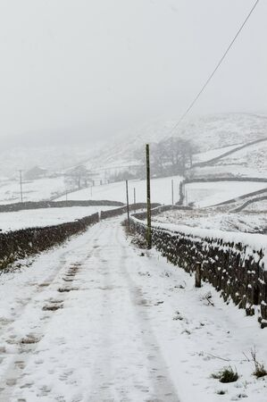 Farm track in the snow. Embsay. England
