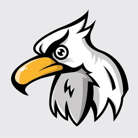 head of eagle logo, vector illustration