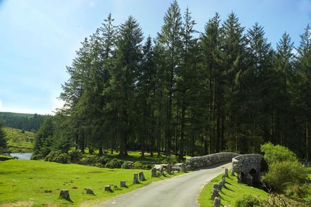 The East Dart River located in Belever in Dartmoor National Park in Devon, UK Stock Photo