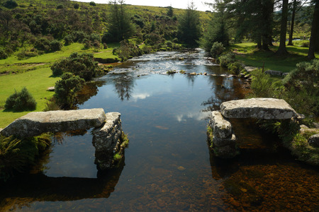 old english: The East Dart River located in Belever in Dartmoor National Park in Devon, UK Stock Photo