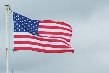 The flag of the United States Of America blows in the wind