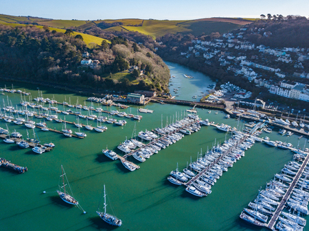 A photograph taken from the air looking at the river Dart from Dartmouth. Banco de Imagens