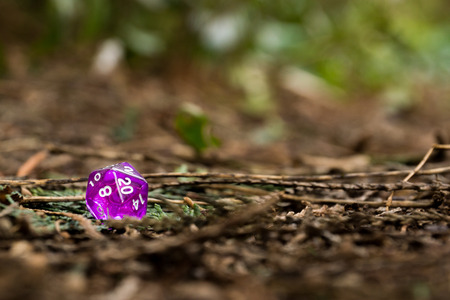 A set of polyhedral dice used for role playing games such as Dungeons & Dragons, the dice are used to determine how successful a player is in their actions within the game. The twenty sided dice is the most common used die in these tabletop games
