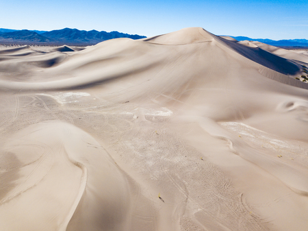 An aerial photograph of the Big Dunes located in the Nevada Desert