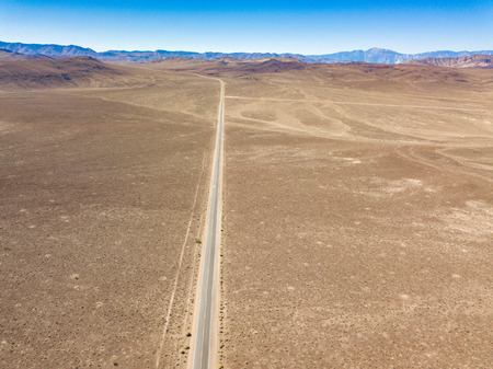 The start of the infamous Death Valley in Nevada, USA from the air