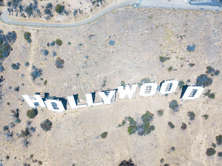 The Hollywood sign located in California, USA