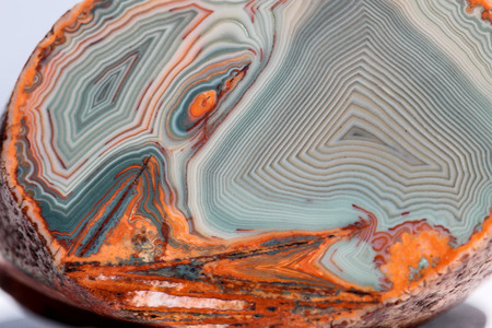 Agate - close up of an agate from Lake Superior in Michigan Stock Photo