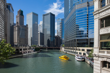 Chicago River View - Chicago River looking west from Michigan Avenue.