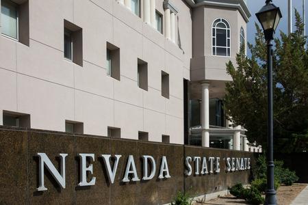 carson city: Nevada State Senate in Carson City, the Nevada state capital. Stock Photo
