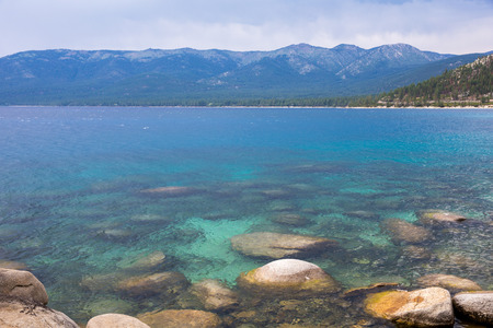 sand harbor: Lake Tahoe - clear, blue water near Sand Harbor.