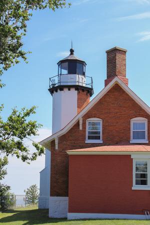 upper peninsula: Eagle Harbor Lighthouse on Lake Superior in Michigans Upper Peninsula. Editorial