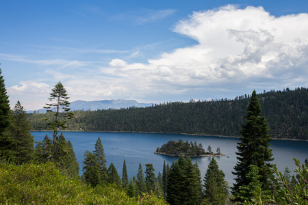 tahoe: Lake Tahoe - view of Emerald Bay on a summer day.