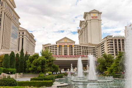 caesars palace: Las Vegas, USA - October 28, 2016:  Caesars Palace resort and fountain on the Vegas Strip in Las Vegas, NV.  Caesars Palace is a luxury resort, famous casino, and an iconic brand.
