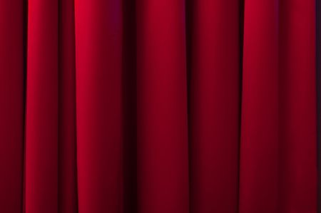 burlesque: Red stage curtain.  Stock Photo