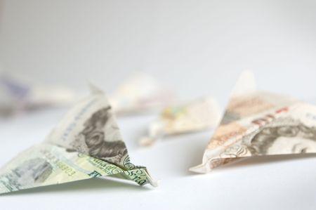 crashed: Crashed GBP banknotes