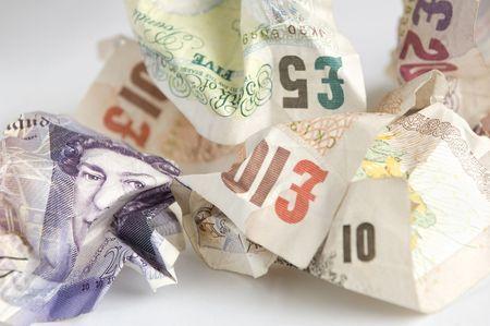 Billets froissés GBP