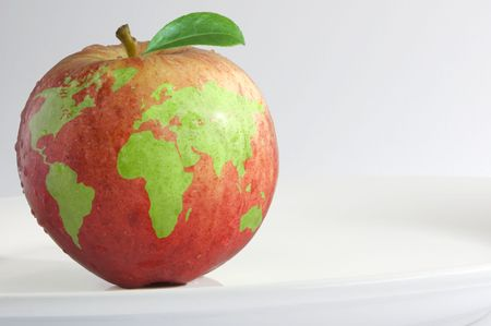 the natural world: World apple Stock Photo