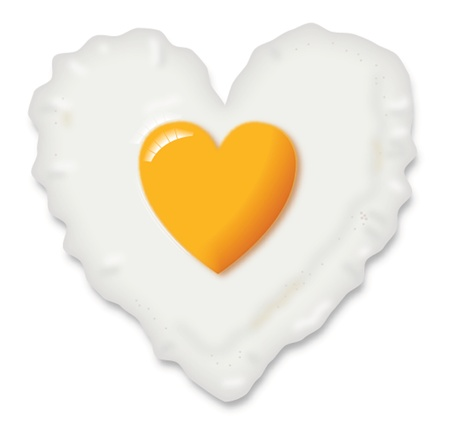 HEART SHAPED EGG Vector