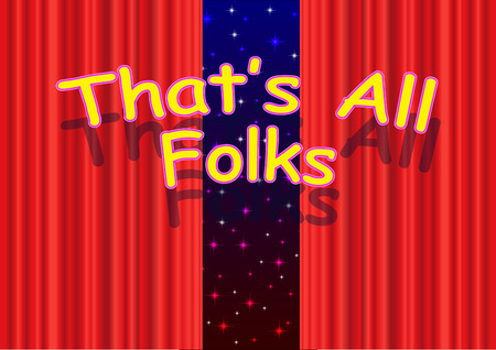 Thats all folks Stock Vector - 26744572