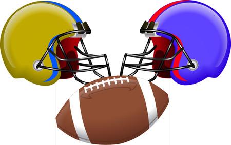 masculinity: usa football teams and ball Illustration
