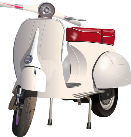 vespa: SCOOTER Stock Illustratie