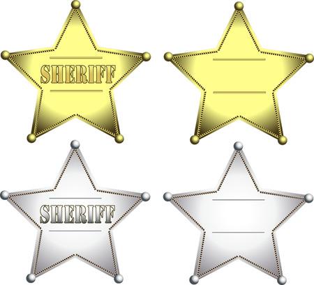 sheriff badge: Insignia del sheriff