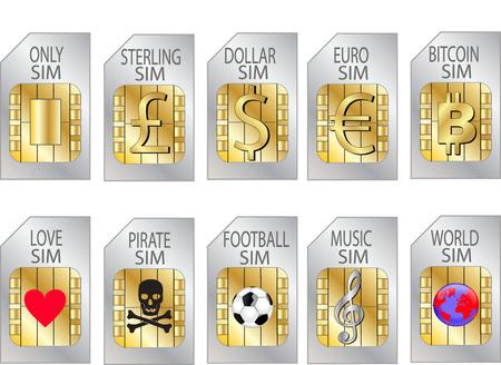 sim: SIM CARDS Stock Photo