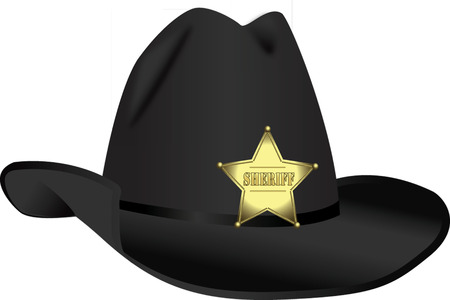 stetson: STETSON WITH BADGE Stock Photo