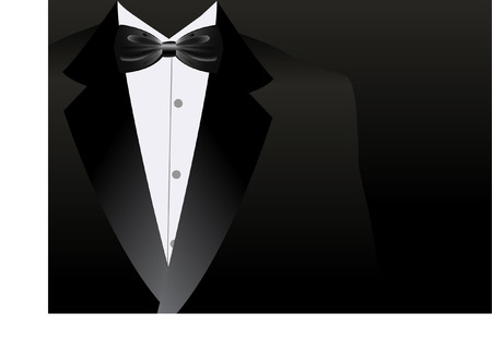 evening dress: TUXEDO Illustration
