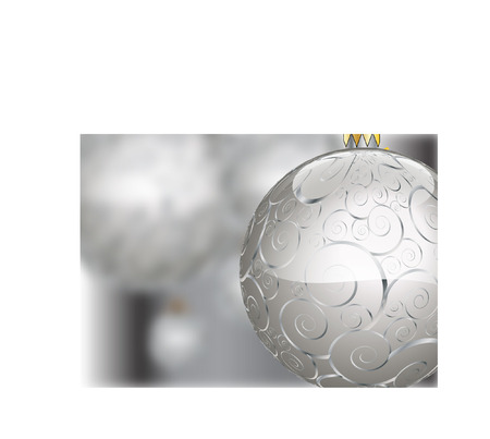 CHRISTMAS SILVER BAUBLES