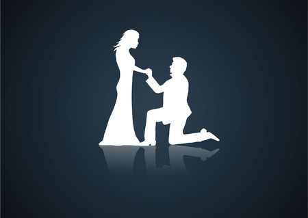 VALENTINE COUPLE Vector