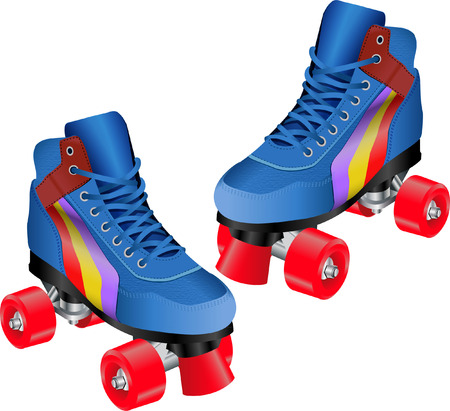 ROLLER SKATE PAIR Illustration