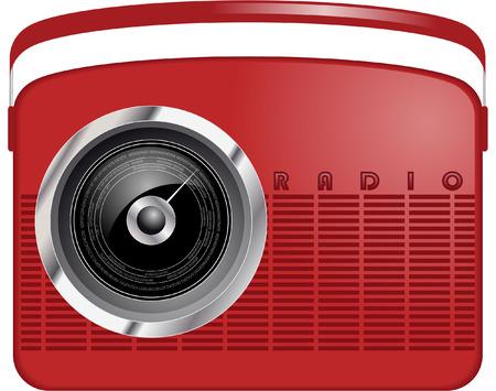 retro radio Vector