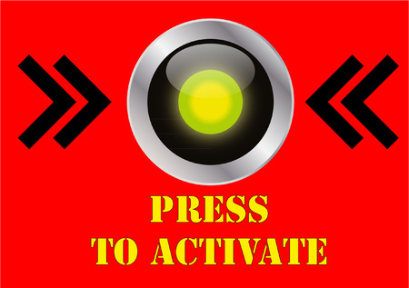 press button Vector